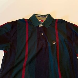 Tommy Hilfiger vintage 90s colorway striped polo